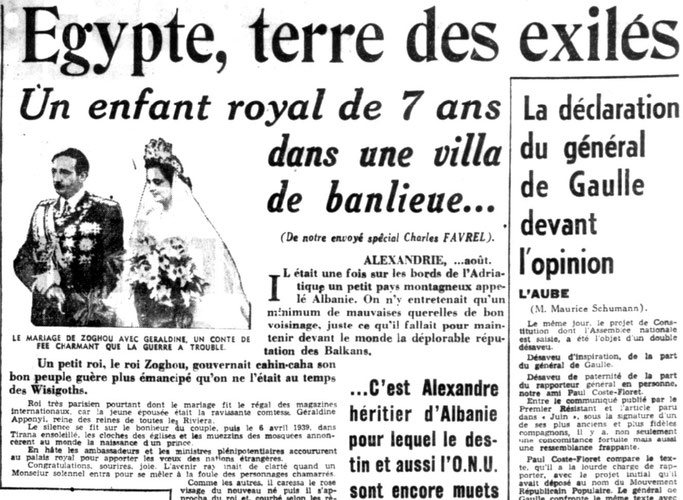 Martesa e Zogut me Geraldinën, një përrallë zanash simpatike e trazuar nga lufta – Burimi : gallica.bnf.fr / Bibliothèque nationale de France