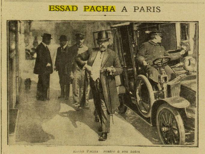 Esat Pasha në Paris (Excelsior, 4 prill 1916, f.5) – Burimi : gallica.bnf.fr / Bibliothèque nationale de France