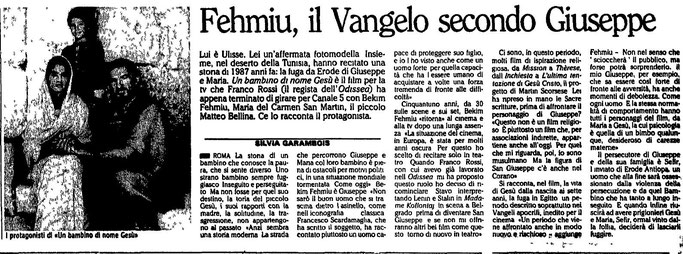 Burimi : L'Unità, e premte, 13 nëntor 1987, fq.20