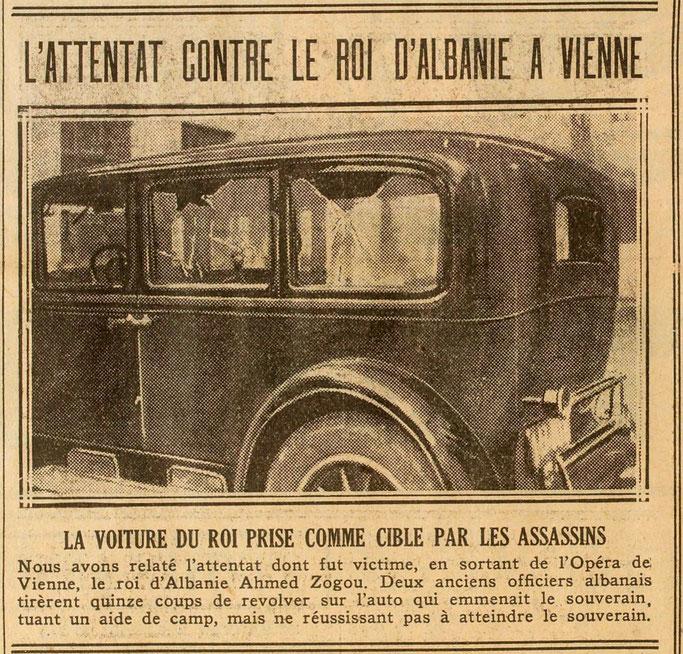 Makina e mbretit e qëlluar nga vrasësit – Burimi : gallica.bnf.fr / Bibliothèque nationale de France