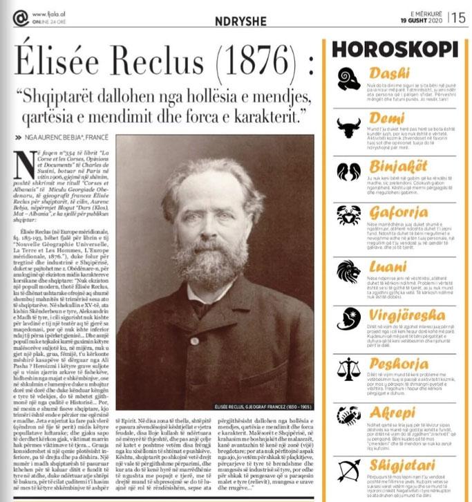 """Gazeta """"Fjala"""", e mërkurë, 19 gusht 2020, f.15"""