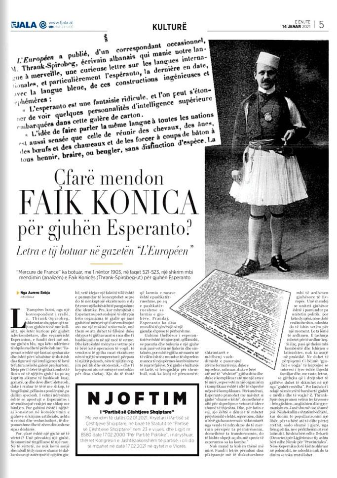 "Gazeta ""Fjala"", e enjte, 14 janar 2021, f.5"