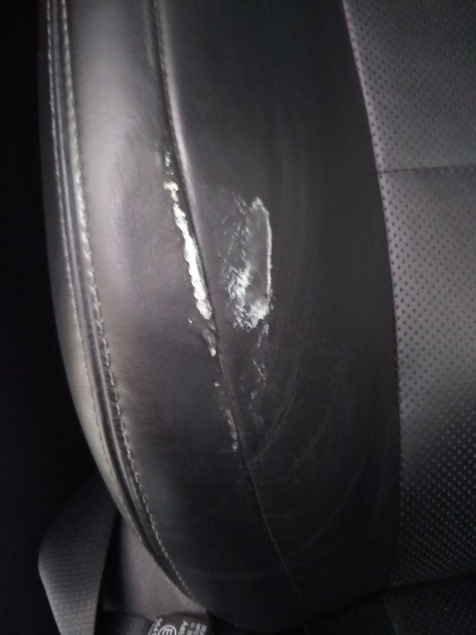 革シートの劣化修理