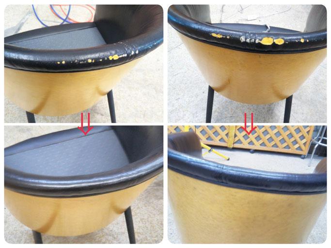 豊橋、蒲郡、浜松、湖西市のホテル椅子修理