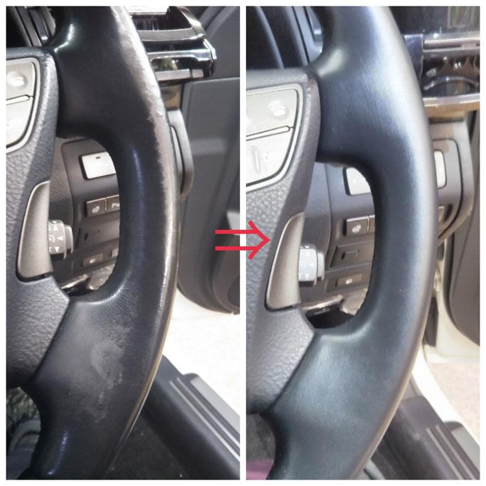 豊橋、豊川、車の内装修理、ハンドル修理
