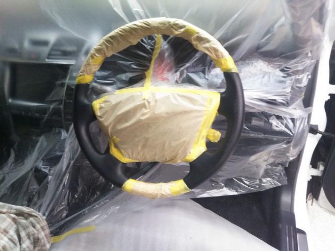 豊橋、豊川の車内装修理、ハンドル修理