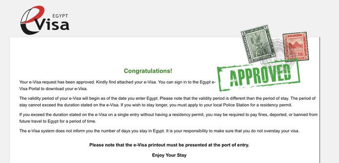 egypt e visa