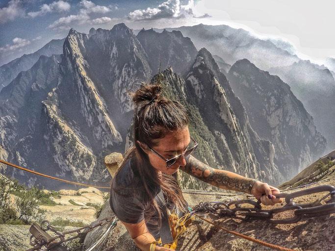 dangerous hike, China