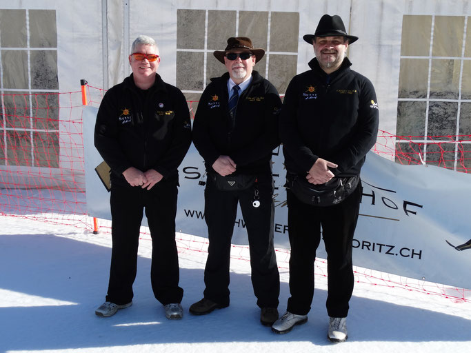 The officials from Cricket on Ice 2017