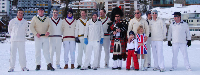 Team photo at Cricket on Ice