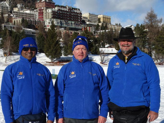 The Umpires 2020: (l-r) Onesimus Koilraj; Alex Mackay; Peter de Boeck