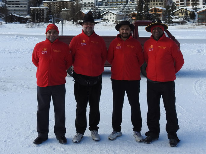 The officials from Cricket on Ice 2018