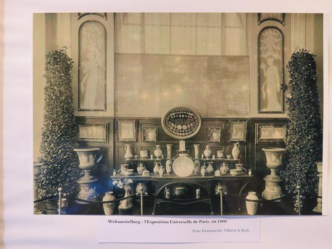 Weltausstellung Paris 1900 Jean Baptiste Stahl Phanolith Porzellan Relief Cameo Mettlach Saar Villeroy Boch