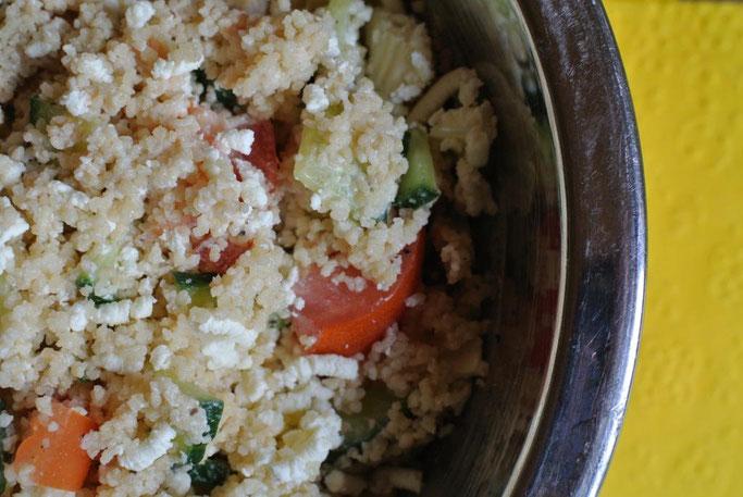 Kochen für Faule: Couscous-Salat - vegetarisch und mit oder ohne Thermomix