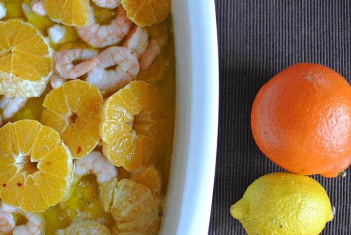 Schnelles Abendessen : Garnelen aus dem Ofen