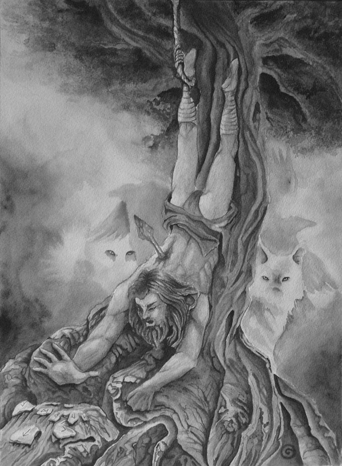 Le jeu de rune et la légende d'Odin