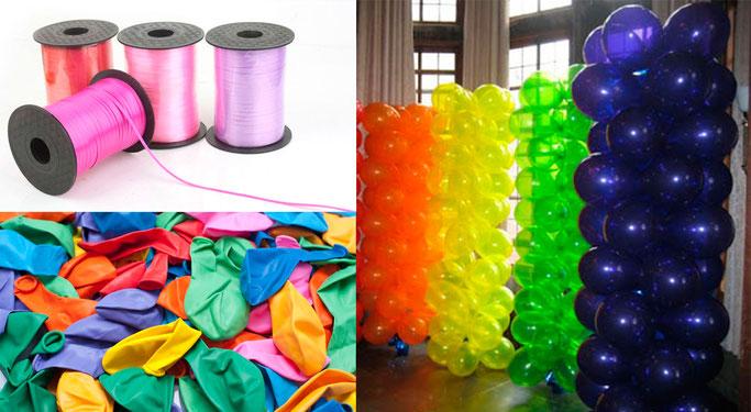 como hacer columna de globos