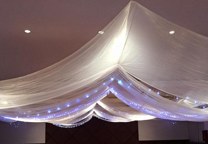 decoración con telas para boda