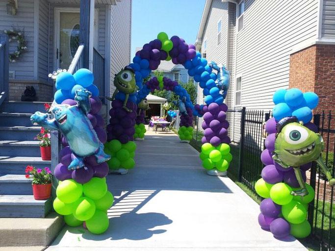 decoración para fiesta de monsters inc
