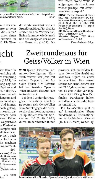 Holsteinischer Courier vom 05.03.2018