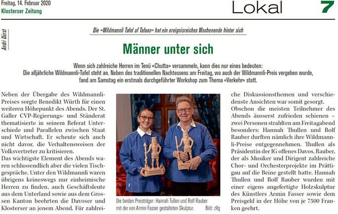 Klosterser Zeitung 14. Feb. 2020