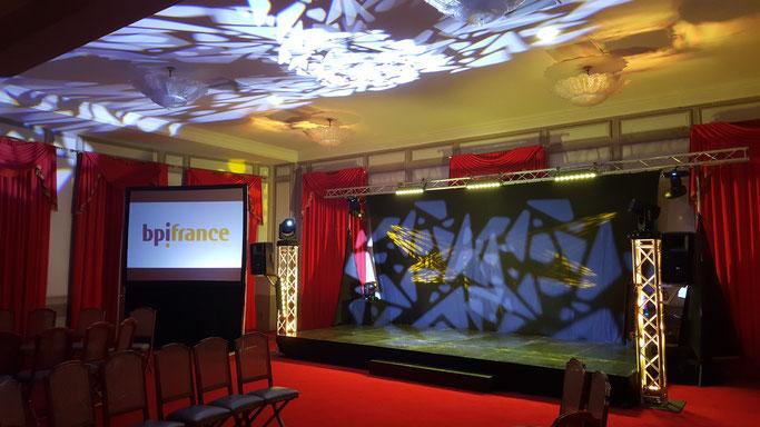 Technique son, lumière et vidéo pour séminaire BPI France