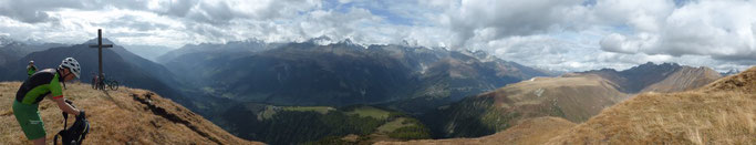 Panorama vom Eggerhorn ins Oberwallis