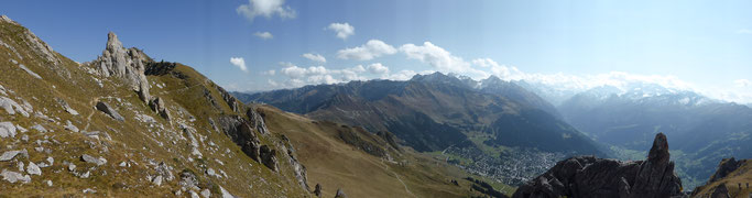 Panorama vom Pierre Avoi über Verbier