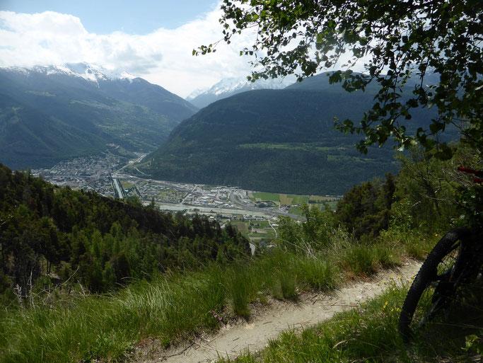 Wunderschönes Panorama ins Wallis