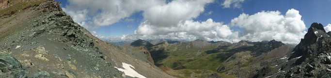 Panorama vom Col de la Noire