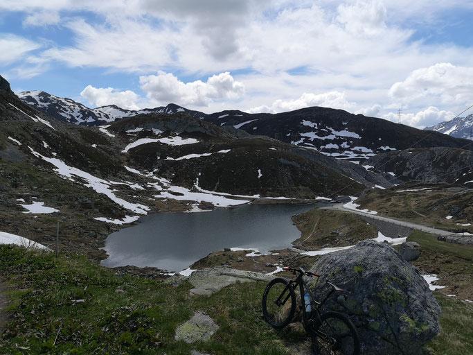Aussicht vom Gotthard Richtung Tremola