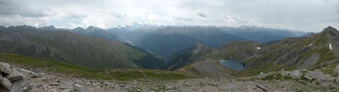 Panorama vom Pic Malrif Richtung Süden