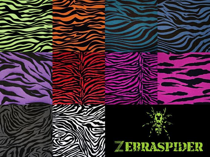 Der Zebra-Baukasten - Farben Zebra Stoffe - Zebraspider DIY Anti-Fashion Blog