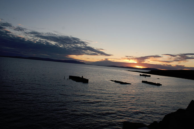 Urlaub Orkney Inseln - Wracks im Sonnenuntergang - Zebraspider DIY Anti-Fashion Blog
