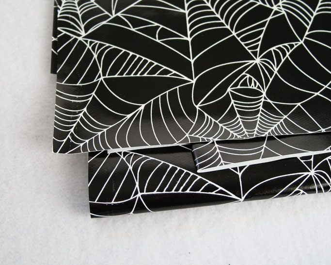 Goth Market Haul and Halloween Decorations - spiderweb oilcloth fabric - Zebraspider DIY Anti-Fashion Blog