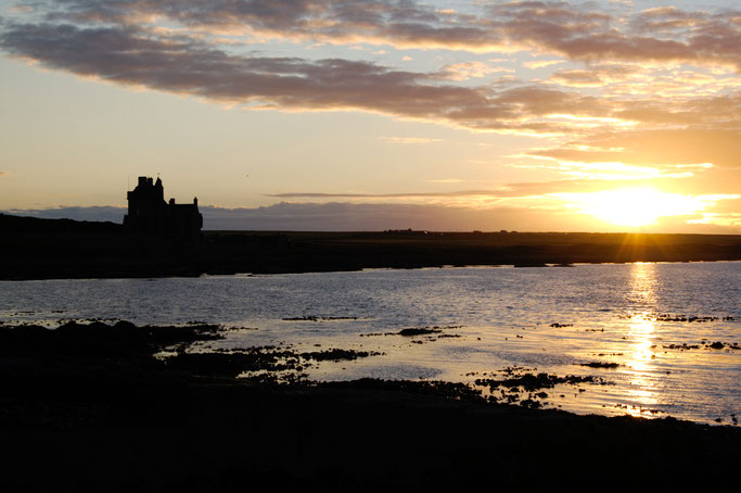 Urlaub in Schottland Teil 1 - Nordküste Sonnenuntergang Castle of Mey - Zebraspider DIY Anti-Fashion Blog