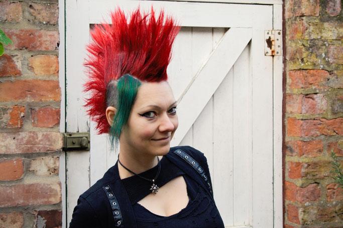 Versöhnung mit (m)einer Haarfarbe - Rot und Grün - Zebraspider DIY Anti-Fashion Blog
