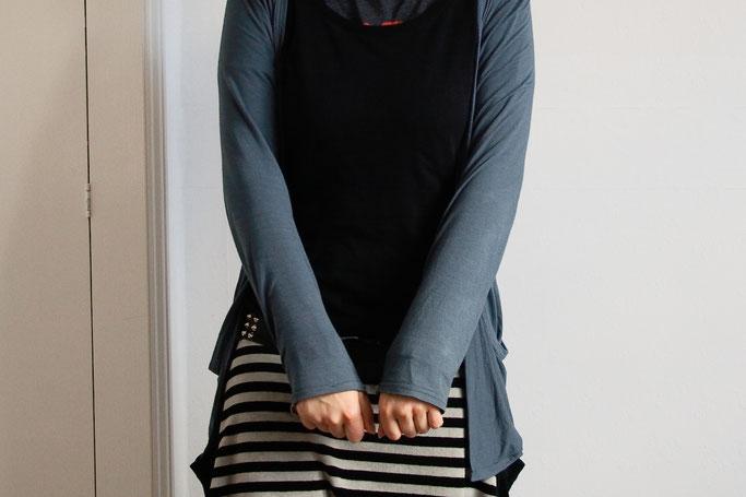 Arbeitsoutfit im englischen Sommer - Cardigan - Zebraspider DIY Anti-Fashion Blog