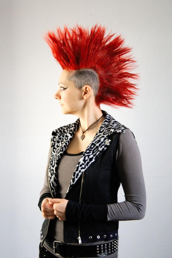 Versöhnung mit (m)einer Haarfarbe - Punkerin - Zebraspider DIY Anti-Fashion Blog