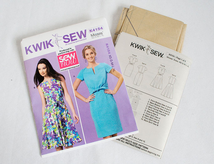 Anders Nähen in England - Sew Now Kwik Sew Schnittmuster - Zebraspider DIY Anti-Fashion Blog