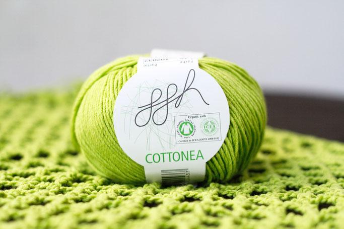Needlework in progress - crochet top lime green organic cotton - Zebraspider DIY Anti-Fashion Blog