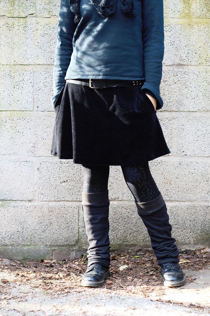 Meine Art des Feminismus und ein Rock - schwarzes Alltagsoutfit - Zebraspider DIY Anti-Fashion Blog