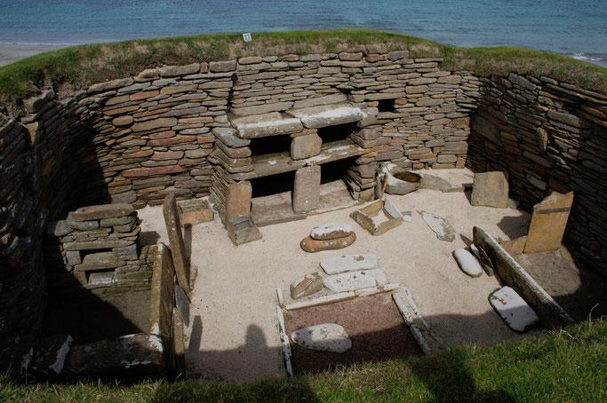 Urlaub Orkney Inseln - Skara Brae Haus 1 - Zebraspider DIY Anti-Fashion Blog
