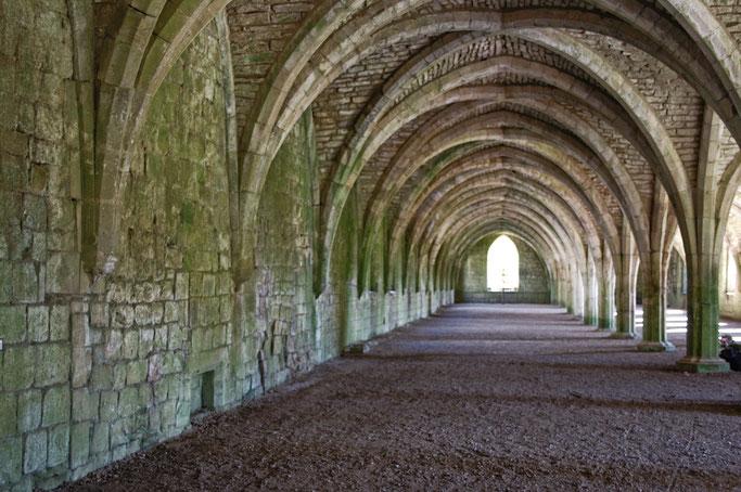 Die Ruinen der Fountains Abbey - Gewölbe Lager - Zebraspider DIY Anti-Fashion Blog
