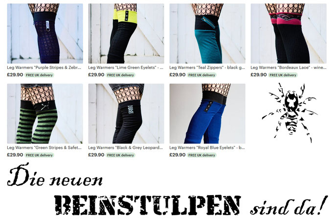 Die neuen Beinstulpen sind da! - Zebraspider DIY Anti-Fashion Blog