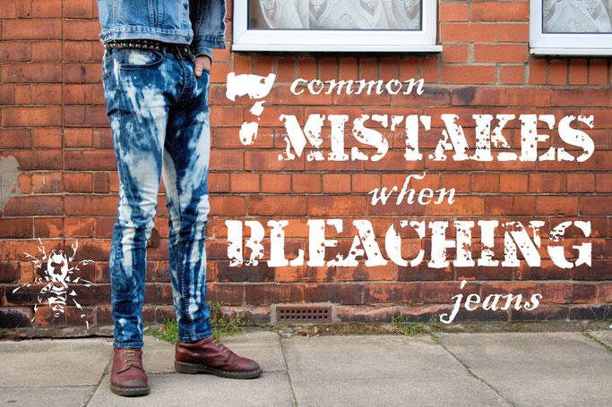 7 common mistakes when bleaching jeans - Domestos Jeans Tutorial - Zebraspider DIY Anti-Fashion Blog