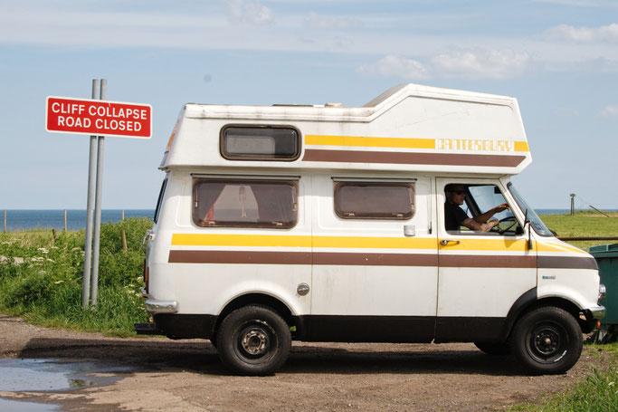 Ausfahrt zum Strand - Bedford Campervan Canterbury - Zebraspider DIY Anti-Fashion Blog