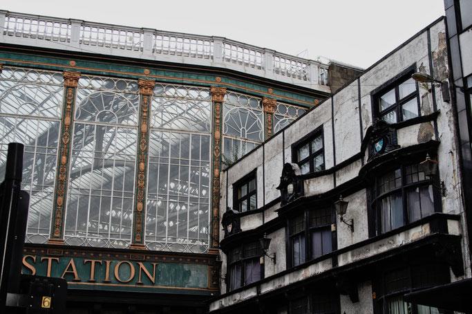 Ein paar Stunden in Glasgow - Bahnhof Glasgow Central Brücke - Zebraspider DIY Anti-Fashion Blog