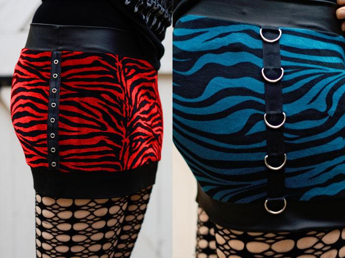 Der Zebra-Baukasten - Details Röcke - Zebraspider DIY Anti-Fashion Blog