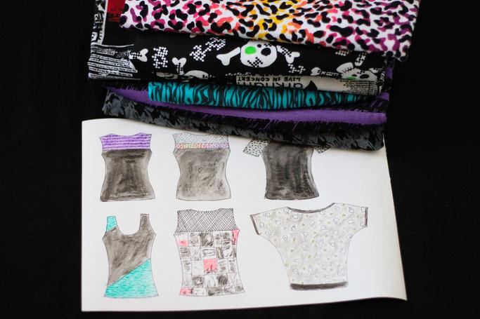 Woran ich momentan arbeite - Oberteile planen mit Aquarell - Zebraspider DIY Anti-Fashion Blog